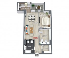 Apartament 3 camere 90mpc - Ansamblul Rezidential Central RO5 RO6
