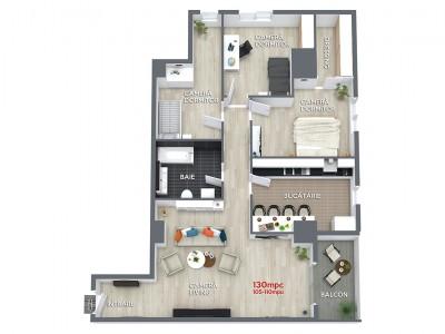 Apartament 4 camere 130mpc Ansamblul Rezidential Central RO5