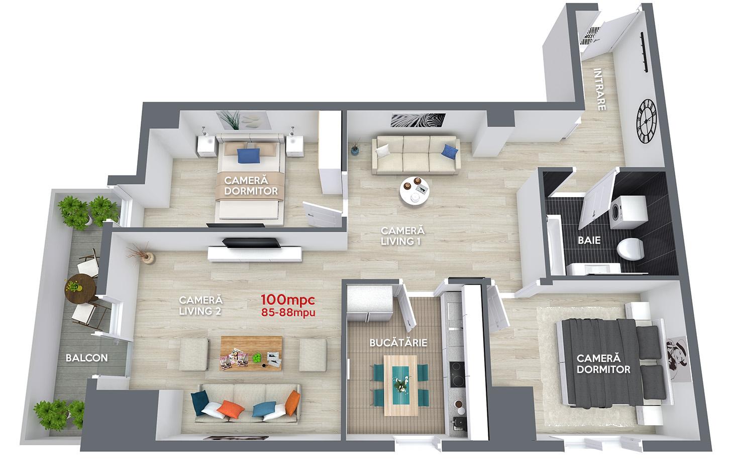 Apartament 100mpc in Ansamblul Rezidential Central Ramnicu Valcea