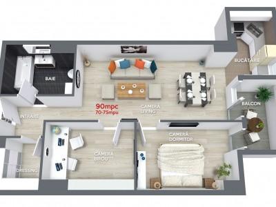 Apartament 90mpc model 2 in Ansamblul Rezidential Central Ramnicu Valcea