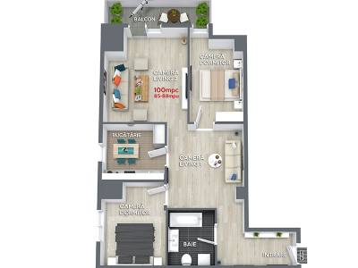 Apartament 100mpc RO6 Ansamblul Rezidential Central Ramnicu Valcea