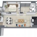 Apartament 3 camere 90mpc ansamblul RO5 RO6